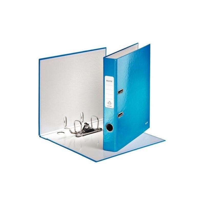 LEITZ Classeur à levier 180° plastifié WOW  dos de 50 mm Bleu