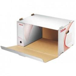 ESSELTE Container d'archives Standard pour boîtes archives Blanc/Rouge