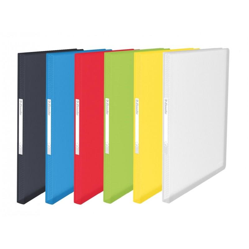 ESSELTE protège-documents souple Vivida 80 pochettes translucide assortis A4