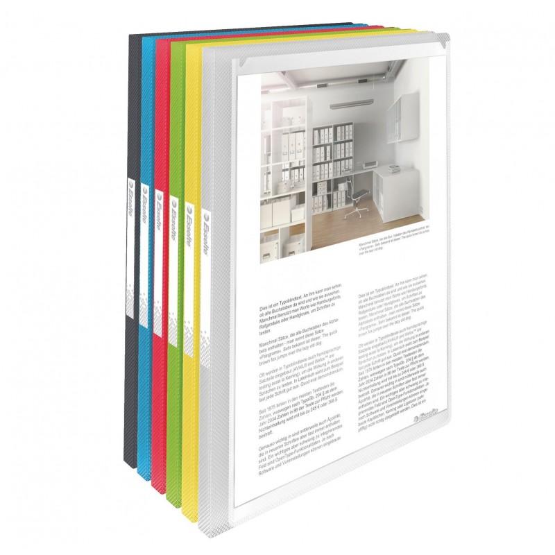ESSELTE protège-documents personnalisable 40 pochettes Vivida, translucide assorties A4