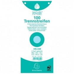 EXACOMPTA Paquet de 100 Fiches Jeu intercalaire  105/240 bleu perf S/F