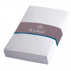 G.LALO 20 enveloppes doublées 90x140mm Vélin gommées sous cello Blanc