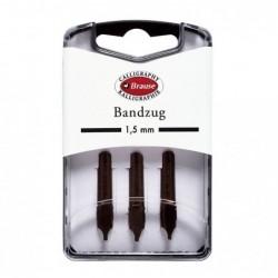 BRAUSE CALLIGRAPHIE Boîte 3 plumes Bandzug 1,5 mm