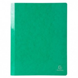 EXACOMPTA Chemise à lamelles A4 Iderama vert foncé