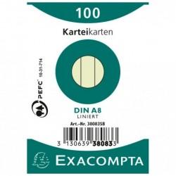 EXACOMPTA Paquet 100 fiches...