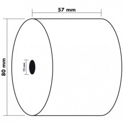 EXACOMPTA Lot de 10 Bobines 1 pli thermique 55g 57x80x12 mm 76 m