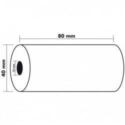EXACOMPTA Lot de 10 Bobines 1 pli thermique 55g 80x40x12 mm 18 m