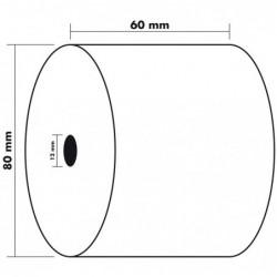 EXACOMPTA Lot de 10 Bobines 1 pli thermique 55g 60x80x12 mm 76 m