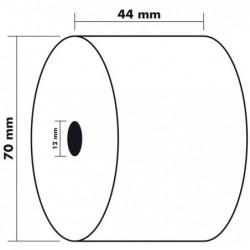 EXACOMPTA Bobine pour caisse enregistreuse papier blanc 55g 44x70x12mm, 1 pli thermique