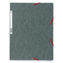 EXACOMPTA Chemise 3 rabats +elast A4 carte gris