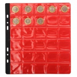EXACOMPTA Sachet de 3 recharges numismatiques 30 cases de diamètre 30mm 24,5x25 cm