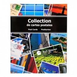 EXACOMPTA Album de collection pour 200 cartes postales 20x25,5 cm
