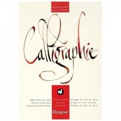 BRAUSE CALLIGRAPHIE Bloc de calligraphie Brause A4 Crème