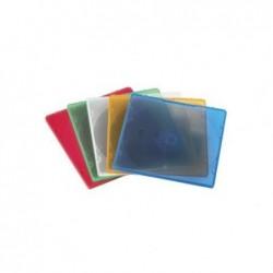 """HAMA Boîtier CD """"Slim"""" en polypropylène lot de 20 assortiment de couleurs"""