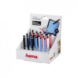 """HAMA Stylet """"Mini"""" 2en1 pour tablettes PC/smartphones, présentoir de 24 pièces"""