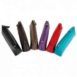 QUO VADIS Trousse FOURRE-TOUT mini trap Cuir vachette p12 19x03x05 cm 6 Visuels ou Coloris Aléatoires