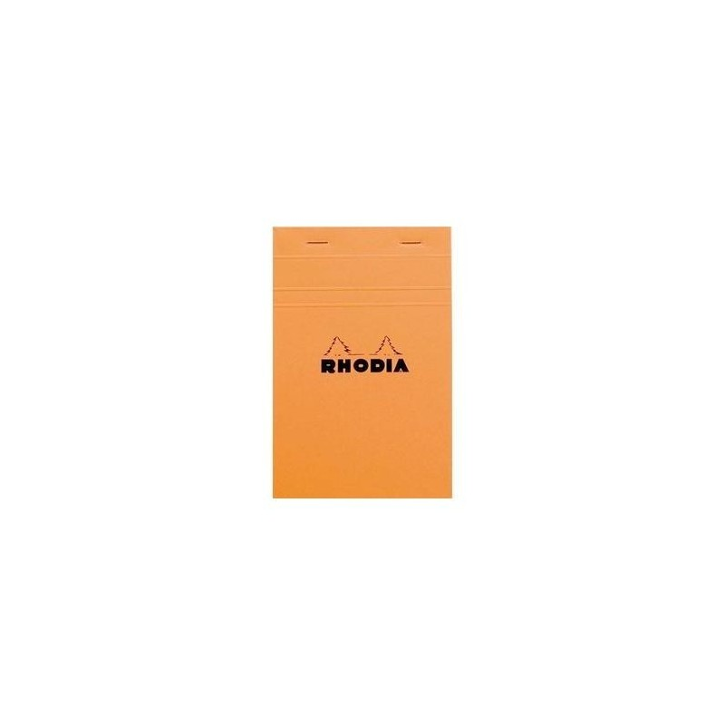 RHODIA Bloc de direction couverture orange 80 feuilles (160 pages) format A5 réglure unie