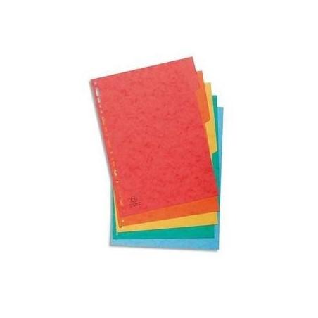 EXACOMPTA Intercalaire 5 positions en carte lustrée 3/10ème 225g, format A4