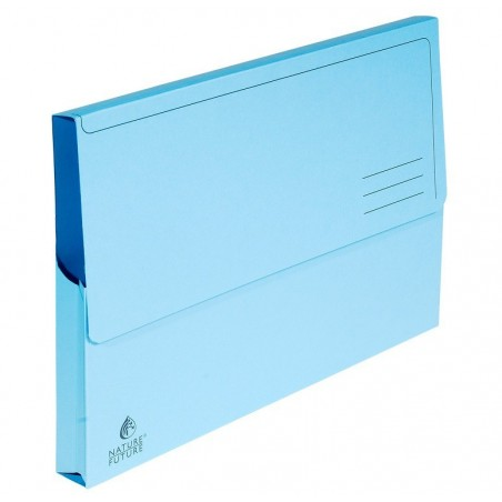 EXACOMPTA Paquet de 10 chemises à poche Nature Future, en carte jura 220g Bleu pastel