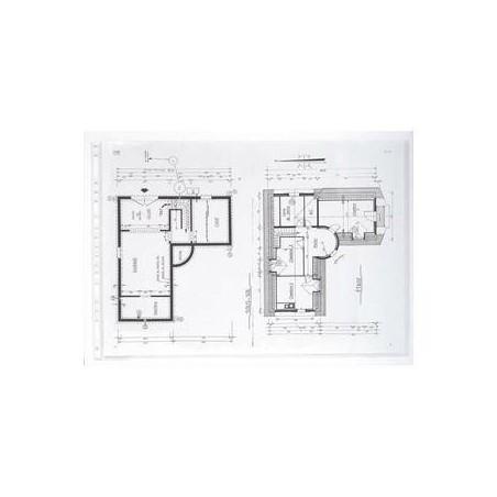 EXACOMPTA Sachet de 20 pochettes perforées PVC lisse 12x100e A3 horizontal Cristal
