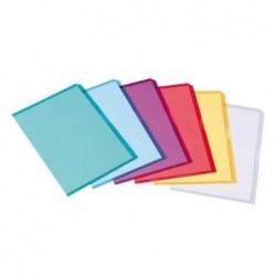 ELBA Sachet de 10 pochettes-coin Fard'or en PVC 14/100e rouge