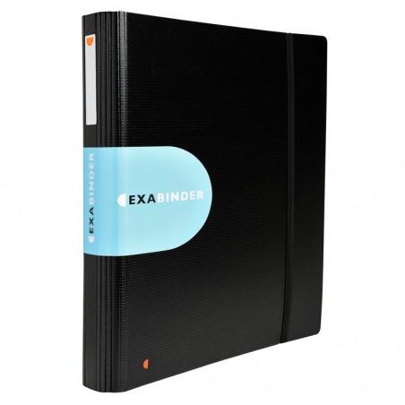 EXACOMPTA Classeur Exabinder 4 anneaux en D 30mm polypropylène Exactive - A4 maxi, noir