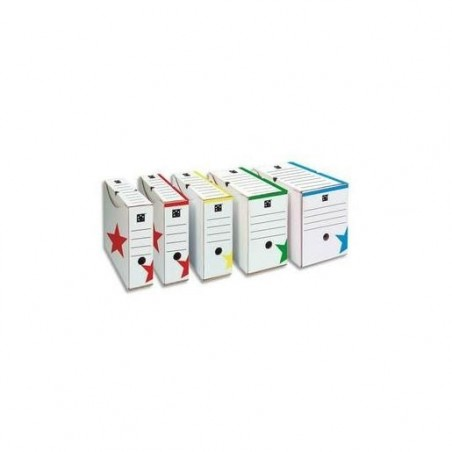 5 ETOILES boîte archive Dos de 20 cm montage automatique Kraft Blanc