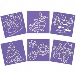 KIDDI CRAFT Lot de 6 POCHOIRS 15X15CM NOEL