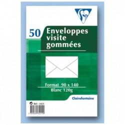 CLAIREFONTAINE Enveloppe visite gommée 90x140 120g pqt 50