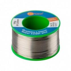 FIXPOINT Bobine 100 g Fil d'etain à Souder Diam 0,35 mm Sans Plomb
