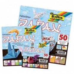 FOLIA Pqt 50 Feuilles de papier à plier Origami 10 x 10 cm 80g Motif JAPAN
