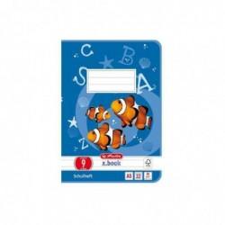 HERLITZ cahier scolaire x.book format A5 linéature 9 64 Pages 80g