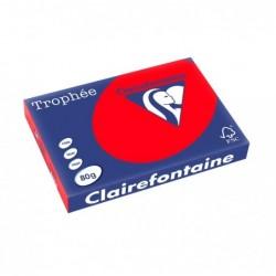 TROPHÉE Ramette 500 Feuilles Papier 80g A3 420x297 mm Certifié FSC  rouge corail