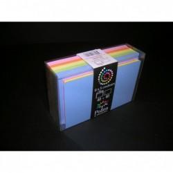 POLLEN Coffret 40 enveloppes 90x140 + 40 cartes 82x128 Printemps (5 couleurs)