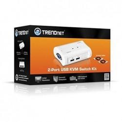 TRENDNET Kit Switch KVM 2 ports USB + 2 câbles