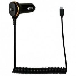 LOGILINK Chargeur allume-ciagre, USB mâle & USB femelle