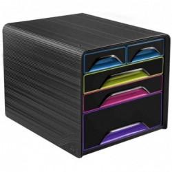 CEP Module de classement Smoove GLOSS, 5 tiroirs, noir / multicolore