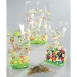 FOLIA Lot de 10 Sachets en cellophane 145 x 235 mm avec impressions de Pâques