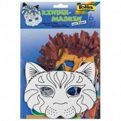 FOLIA Lot de 6 Masques pour enfants Chat