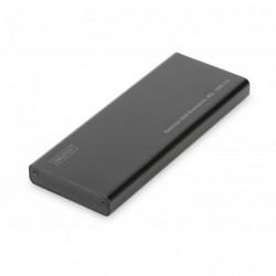 DIGITUS Boîtier SSD externe, M.2 vers USB 3.0 Alu Noir