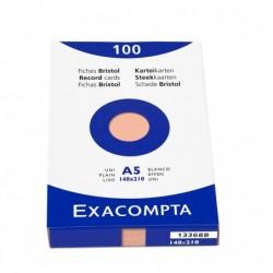EXACOMPTA Étui de 100 fiches bristol uni non perforé 148x210mm Orange