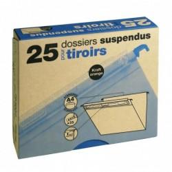 ELBA Boite de 25 Dossiers Suspendus pour Tiroir Fond V Kraft Orange