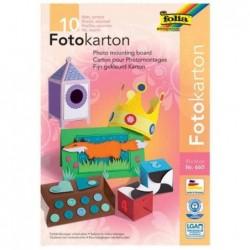 FOLIA Lot de 10 Papier Carton pour photomontages 220 x 320 mm 300g Assorties