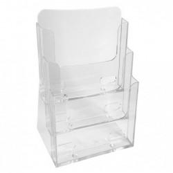 EXACOMPTA Distributeur format A4 3 cases cristal