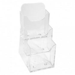 EXACOMPTA Distributeur format prospectus (1/3 A4) 3 cases cristal
