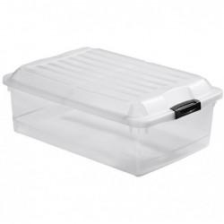 EXACOMPTA Boîte de rangement Multiboxx 40L Office cristal