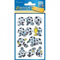 """AVERY ZWECKFORM Sticker ZDesign KIDS sticker 3D """"football"""" 1 Feuille"""