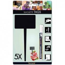 """SECURIT Pancarte décorative Silhouette TAG """"rectangle"""""""