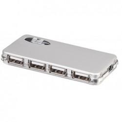 MANHATTAN Adaptateur Hub Micro USB 2.0 4 Ports Slim Style Argent