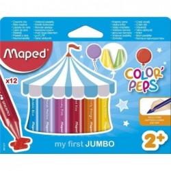 MAPED étui de 12  my first Crayons de cire COLOR'PEPS JUMBO